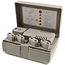Simran PG3 50-watt-1600-watt World Travel Voltage Converter/International Plug Adapter Kit for Foreign Travel to 220V/240V Countries, Ivory