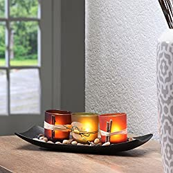 Hosley Natural Candlescape Set of 3 Decorative Can