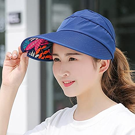 Amazon.com  GAOQIANGFENG The sun visor hat top air UV all-match ride along  the summer beach sun hat hat 5cea0996418