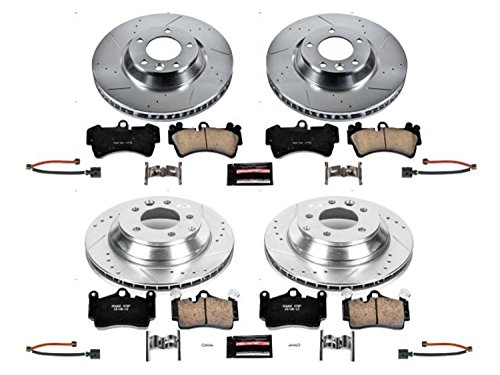 Power Stop K4500 Front and Rear Z23 Evolution Brake Kit with DrilledSlotted Rotors and Ceramic Brake Pads