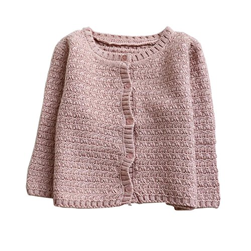 Baywell Baby Girl#039s Knit Cardigan Girls#039 Spring Fall Casual Jacket 06T Pink