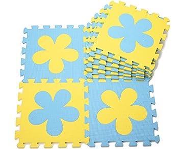 10 pcs Esterillas de juegos para niños Colchonetas de espuma para bebé Baby Crawling Mat Esteras Del Rompecabezas para Arrastrar y Estudiar a Caminar ...