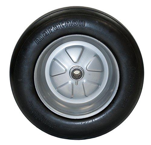 Marathon 18x8.50-8'' Flat Free Tire on Wheel, 3.25'' Hub, 1'' Roller Bearing by Marathon (Image #1)