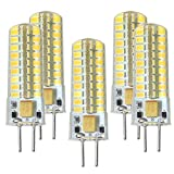 GY6.35 LED Bulbs 5W Bi-pin Base AC/DC 12V. Halogen 50W Replacement Bulb. Non-dimmable.Warm White 3000K (Pack of 5)