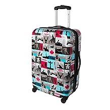 Atlantic Canadiana 24-Inch Expandable Hardside Spinner Luggage, Multi, Checked-Medium