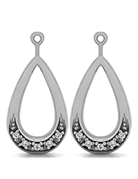 0.1 ct twt Diamond Earring Jackets mounted in 14k White Gold