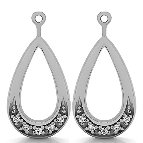 1/10 ct. Diamonds (G-H,I2-I3) Chandelier Earring Jacket in Sterling Silver (0.1 ct. twt.) (Jackets Earring Diamond Platinum)