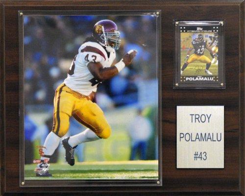 NCAA Football Troy Polamalu USC Trojans Player Plaque