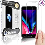 WITKEEN Defenslim IP-7G 2Pack iPh.7/8 Tempered Glass Screen Protector with Wider Speaker Cutout – Shatter Resistant, Compatible with iPhone 8/7