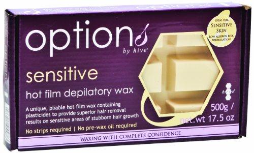 Hive Options Sensitive Hot Film Brazilian Depilatory Wax Block Low Allergy Risk Formulation ()