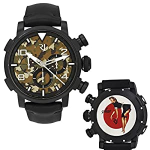Romain Jerome Pinup DNA WWII Sue Maid Chrono Auto Men Watch RJ.P.CH.002.01