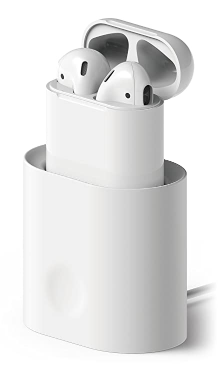 finest selection d5414 1650e elago AirPods Stand [White] - [Compatible with Apple AirPods 1 &  2][Charging Station][Long-Lasting][Cable Management] - for AirPods 1 & 2