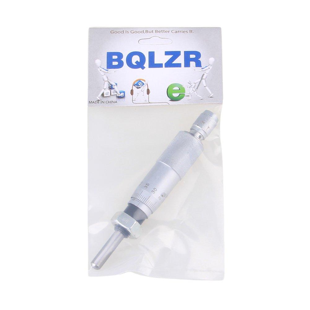 BQLZR Silver Round Needle Type Thread Micrometer Head Measurement Measure Tool 0-25mm Range