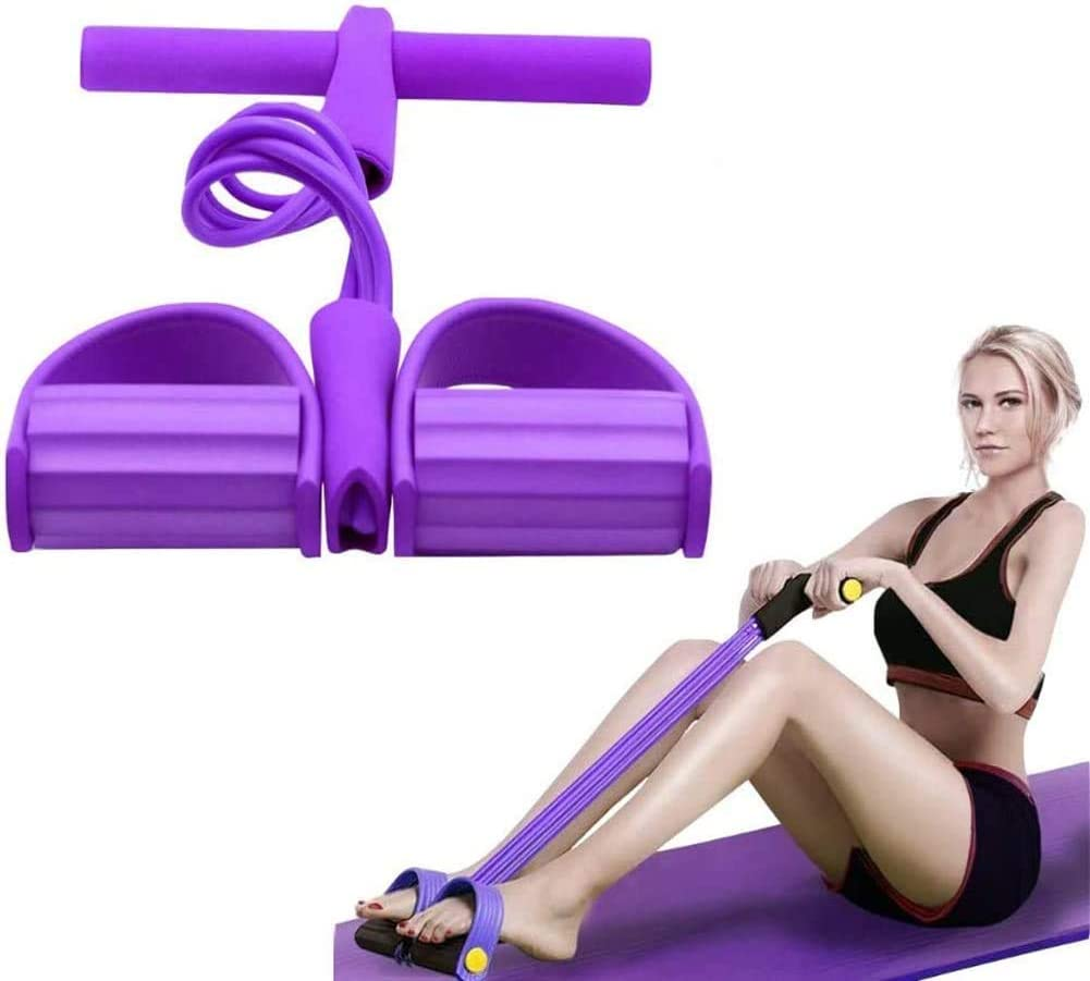 Fitness Pull Resistance Bands Trainer Tension Rope Foot Pedal Rope Exerciser