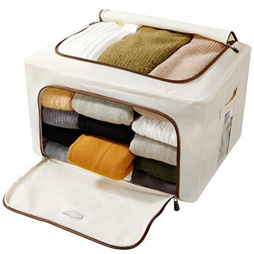 Lifewit Foldable Storage Bag, Breathable Fabric Dustproof Organizer Closet Storage Box Basket for Comforters, Blanket, Clothes