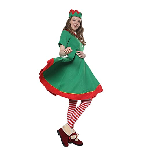 Amazon.es: LHZTZKA Lady Christmas Elf Set,Disfraz de Duende ...