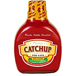 Petchup Catchup Nutritional Dry Cat Food Gravy. Holistic Cat Food Topper for an Amazing Cat Food Treat! - BRAND NEW FORMULA - Low Calorie, Grain-Free & Gluten-Free - 12 oz. bottle, Salmon Flavor