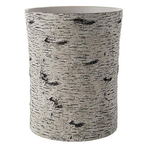 - Allure Home Creations Birch Wastebasket, White
