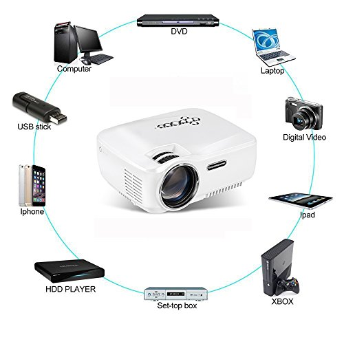 Authentic android wifi bluetooth projector warranty included erisan multimedia mini pro for Small bluetooth projector