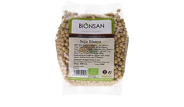Bionsan Soja Blanca de Cultivo Ecológico - 12 Paquetes de 500 ...