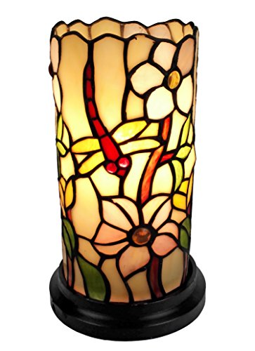 Amora Lighting AM091ACC Tiffany Style Dragonfly Mini Table Lamp, 10