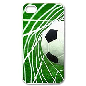 Personalized Durable Case Cover for iPhone 4,4S with Brand New Design Soccer Ball