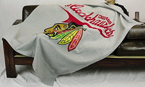 The Northwest Company Chicago Blackhawks NHL Sweatshirt Throw Blanket, Grey