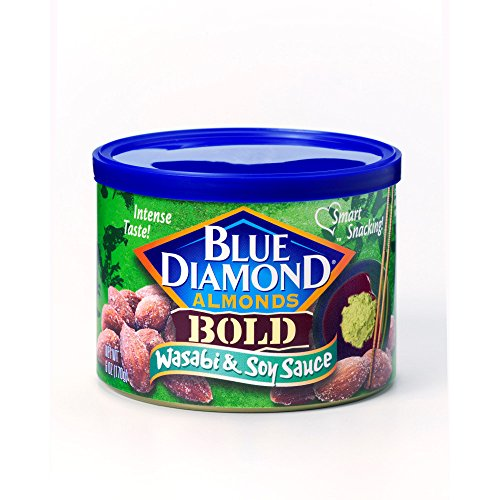 BOLD Wasabi & Soy Sauce Almonds - case of twelve 6oz cans ()