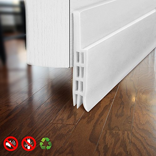 Door Draft Stopper Door Sweep for Exterior/Interior Doors, Door Seal Strip Under Door Draft Blocker Seal, Soundproof Door Bottom Weather Stripping Weatherproof, 2