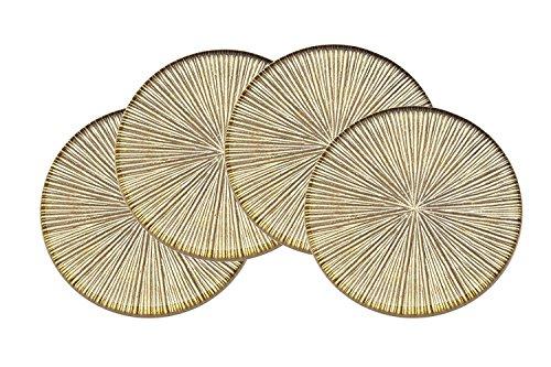 Godinger Silver Art Dax Gold Coasters Set of 4