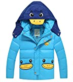 Kmety Big Boys' Cartoon Duckling Bubble Jacket with Hood
