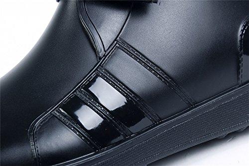 Adulto Chiusa Unisex Shoes Punta Basse Tonda Ageemi Di Stivali Puro Gomma gUZyq1xWw