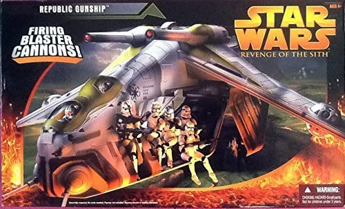 Amazon Com Star Wars Episode 3 Republic Gunship Revenge Of The Sith By Hasbro Toys Games