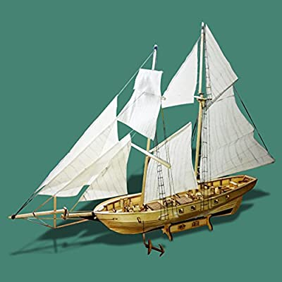 AKDSteel Assembling Building Kits Ship Model Wooden Sailboat Toys Harvey Sailing Model Assembled Wooden Kit DIY Gift Toys,Best Gift for Boyfriend or Girlfriend on Birthday,Anniversary,Valentine's Day: Home & Kitchen