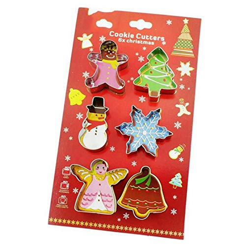 Christmas Cookie Cutter Mold 3D Stainless Steel Biscuit Mould Biscuit Cake Decoration Baking -