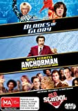 Anchorman - The Legend of Ron Burgandy + Blades of Glory + Old School [Will Ferrell] [NON-USA Format / PAL / Region 4 Import - Australia]