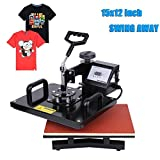 PanelTech 15''x12'' T-shirt Heat Press Digital Transfer Sublimation Swing-away W/ Rigid Base