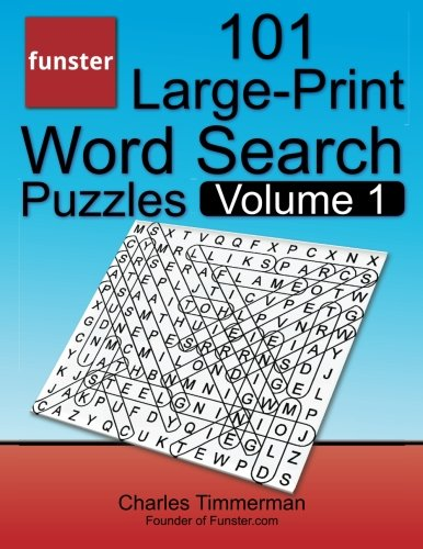 funster 101 large print word search puzzles volume hours bra
