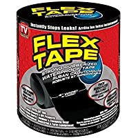 "Asien Flexible Waterproof Silicone Sealant Tape,All-Purpose Butyl and Shield Repair Tape,4"" x 5', Black"