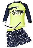 Sharp Boat Long-Sleeve Rash Guard Swim Shirt