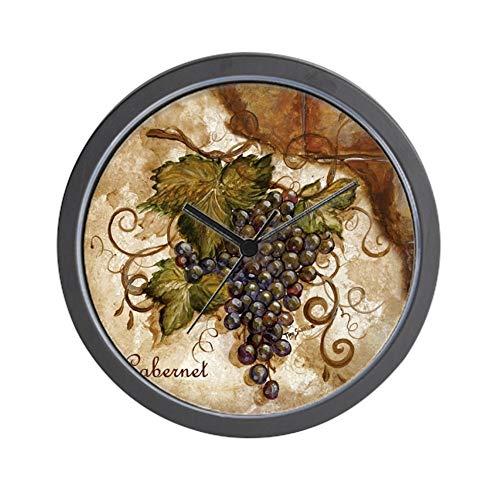 CafePress-Grape-Wall Clock (Grape Clock Wall)