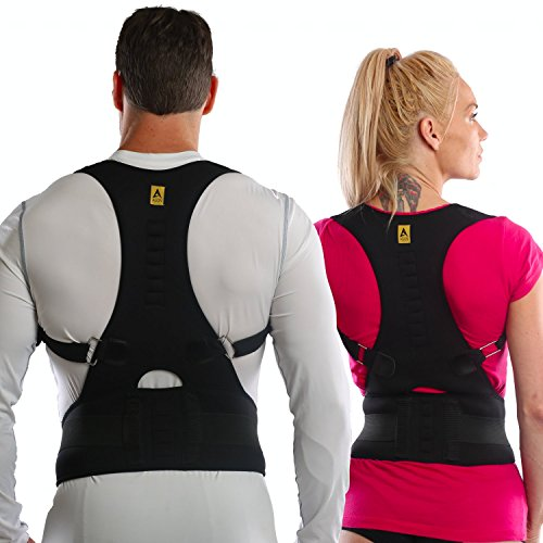 Agon Thoracic Back Brace Posture Corrector - Magnetic Support for Back Neck Shoulder Upper Back Pain Relief Perfect Product for Cervical Spine Fully Adjustable with Magnets (Large/X-Large)