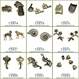 5 PCS Jewelry Making Charms Findings T2494 London Bus Jewellery Bronze Charme Supply Supplies Crafting Bracelet Wholesale Craft Alloys Lots Bulk Necklace Antique Retro DIY Vintage