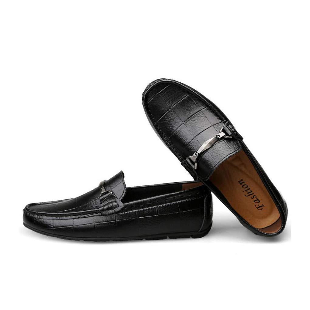 FuweiEncore Herrenschuhe Herrenschuhe Herrenschuhe Leder Frühjahr   Sommer Herbst Komfort Loafers & Slip-Ons Driving Schuhe Mode   Formelle Business Schuhe Party & Abend (Farbe   Schwarz, Größe   43) 66fb67