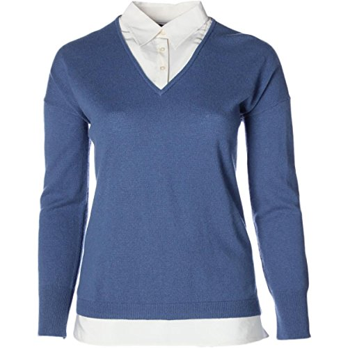 Lauren by Ralph Lauren Womens Cashmere Knit Pullover Top Blue - Cheap Lauren Ralph