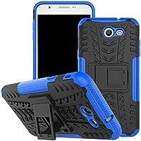 Galaxy J7 V Case, J7 Prime Case, J7 Perx Case, J7 Sky Pro Case, Viodolge [Shockproof] Hybrid Tough Rugged Dual Layer Protective Phone Case Cover with Kickstand for Samsung Galaxy J7 V (2017) (Blue)