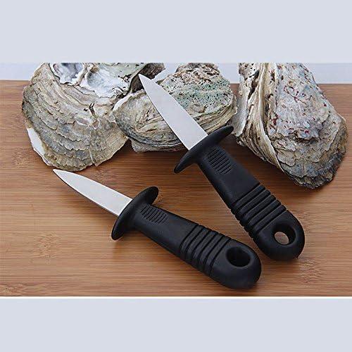 Bestlymood 1pz Diseno humanizado Cuchillo de ostra mariscos vieiras Abre Concha de ostras Herramientas de Cocina de Utilidad Multifuncional