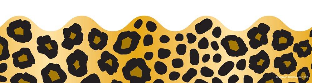 1242 Carson Dellosa Leopard Print Borders