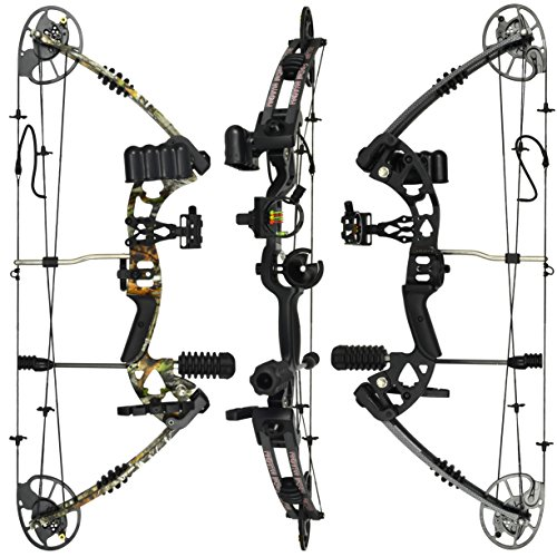 RAPTOR Compound Hunting Bow Kit: LIMBS MADE IN USA | Fully adjustable 24.5-31