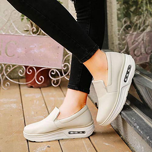 Coussin De Confortables Femme Shake Loisirs Chaussures Pour Beige Tte D'air Alikeey Ronde rfSgrq